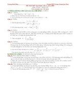 Bài giảng ĐỀ 3 ÔN THI DH (CÓ LỜI GIẢI)