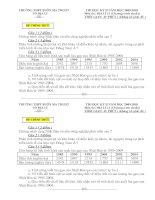Tài liệu Đề thi HKII và đáp án môn địa lý 11 chuẩn số 1 (2009-2010) doc