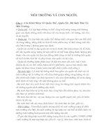 Tài liệu TÀI LIỆU ÔN TẬP MÔI TRƯỜNG VÀ CON NGƯỜI. pdf