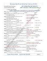 Đề cương ôn tập môn Hóa học 9 HK1