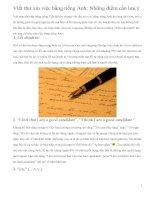 Viết thư xin việc bằng tiếng Anh: Những điểm cần lưu ý