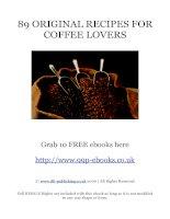 Tài liệu 89 original recipes for coffee lovers pdf