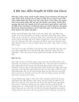 Tài liệu 5 Bài học diễn thuyết từ CEO của Cisco ppt