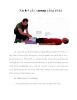 Tài liệu Xử trí gãy xương cẳng chân docx