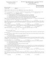Bài soạn đề thi thử lần 1 của BGD năm 2011