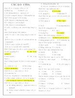 Tài liệu Bài tập trắc nghiệm các loại tia doc