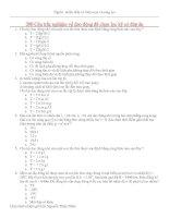 Tài liệu 200 Câu trắc nghiệm về dao động đã chọn lọc kỹ có đáp án pptx