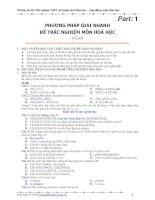 Tài liệu Phương pháp giải nhanh trắc nghiệm và đề ôn thi_Part 1+2 ppt