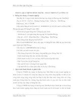ĐÁNH GIÁ TỔNG QUAN TÌNH HÌNH sản XUẤT KINH DOANH của Công ty trách nhiệm hữu hạn xây dựng và thương mại Thái Bình