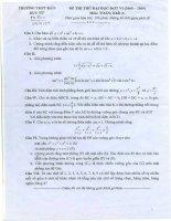 Tài liệu Đề thi thử đại học đợt 6 môn Toán khối A (2008-2009) - THPT Đào Duy Từ ppt