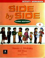 Side By Side Activitiy Workbook 4 - third edition