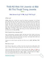 Tài liệu Thiết Kế Web Với Joomla part 2 docx