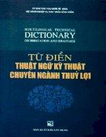 Tài liệu Từ điển Anh - Việt chuyên ngành thủy lợi - phần 1 doc
