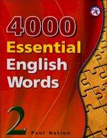 4000 Từ vựng tiếng Anh thiết yếu tập 2