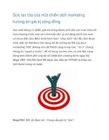 Tài liệu Sức lan tỏa của một chiến dịch marketing doc