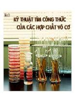 Tài liệu Kỹ thuật tìm công thức của các hợp chất vô cơ ppt