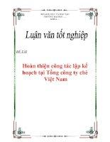 """Tài liệu Luận văn tốt nghiệp """"Hoàn thiện công tác lập kế hoạch tại Tổng công ty chè Việt Nam"""" ppt"""