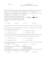 Tài liệu Đề thi môn Vật lí - đề thi số 5 pptx