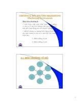 Tài liệu CHƯƠNG 2: MÔI TRƯỜNG MARKETING (Marketing Enviroment) pptx