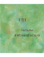 Tài liệu Bài giảng: U TỤY pdf