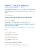 Tài liệu Reported Speech (Câu tường thuật) pdf