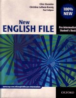 Tài liệu New english file pre - intermediate student''''s book part 1 docx