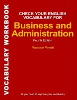 Tài liệu Check Your English Vocabulary for Business and Administration docx
