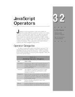 Tài liệu Javascript bible_ Chapter 32 pptx