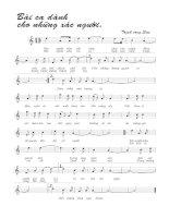 Tài liệu Bài hát bài ca dành cho những xác người - Trịnh Công Sơn (lời bài hát có nốt) pptx