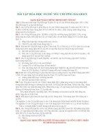 Bài giảng Bài Tập Hóa 10 Chương V Halogen
