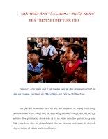 Tài liệu NHÀ NHIẾP ẢNH VĂN CHUNG – NGƯỜI KHÁM PHÁ THÊM NÉT ĐẸP TUỔI THƠ doc