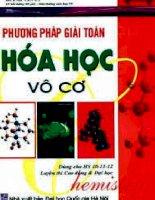 Phương pháp giải toán hóa học vô cơ - huỳnh văn út