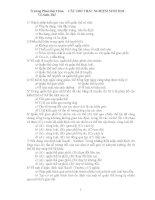 Tài liệu 92 câu hỏi trắc nghiệm sinh học 12 ôn thi ĐH pptx