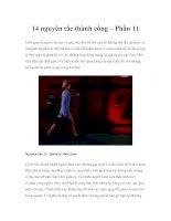 Tài liệu 14 nguyên tắc thành công – Phần 11 docx