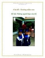 Tài liệu Chủ đề : Trường mầm non - Đề tài: Những người bạn của tôi pdf