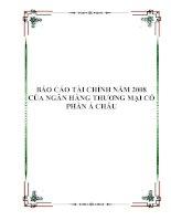 Tài liệu BÁO CÁO TÀI CHÍNH NĂM 2008 CỦA NGÂN HÀNG THƯƠNG MẠI CỔ PHẦN Á CHÂU ppt