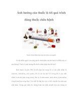 Tài liệu Ảnh hưởng của thuốc lá tới quá trình dùng thuốc chữa bệnh docx