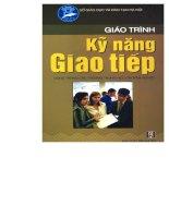 Tài liệu Giáo trình kỹ năng giao tiếp pdf