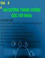 Tài liệu Chủ đề 4: HAI ĐƯỜNG THẲNG VUÔNG GÓC VỚI NHAU pdf
