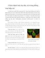 Tài liệu Chữa bệnh loét dạ dày, tá tràng bằng rau bắp cải pdf