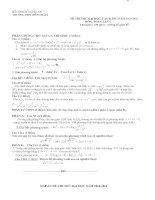 Bài soạn de thi thuDH co dap an