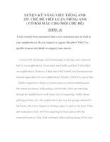 Tài liệu LUYỆN KỸ NĂNG VIẾT TIẾNG ANH 155 -CHỦ ĐỀ VIẾT LUẬN TIẾNG ANH 6 pdf