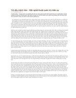 Tài liệu Trỏ dâu trách hòe - Một nghệ thuật quản trị nhân sự docx