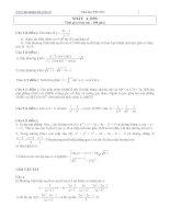 Tài liệu Bài tập toán ôn thi đại học khối A có lời giải hướng dẫn pdf