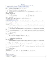 Tài liệu Đề thi thử tốt nghiệp THTP môn Toán (Có đáp án) - Đề số 6-10 pdf