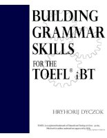 Tài liệu Building grammar skills for TOEFL IBT part 1 pdf