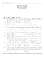 Bài giảng 2 đề thi thử Đại học Môn Vật lý  và đáp án
