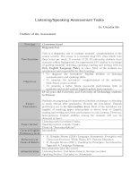 Tài liệu Listening and Speaking Assessment Tasks pdf
