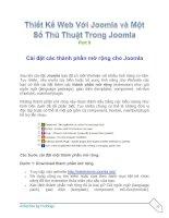 Tài liệu Thiết Kế Web Với Joomla part 9 pptx