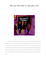 Tài liệu Bài học lãnh đạo từ một giáo viên docx